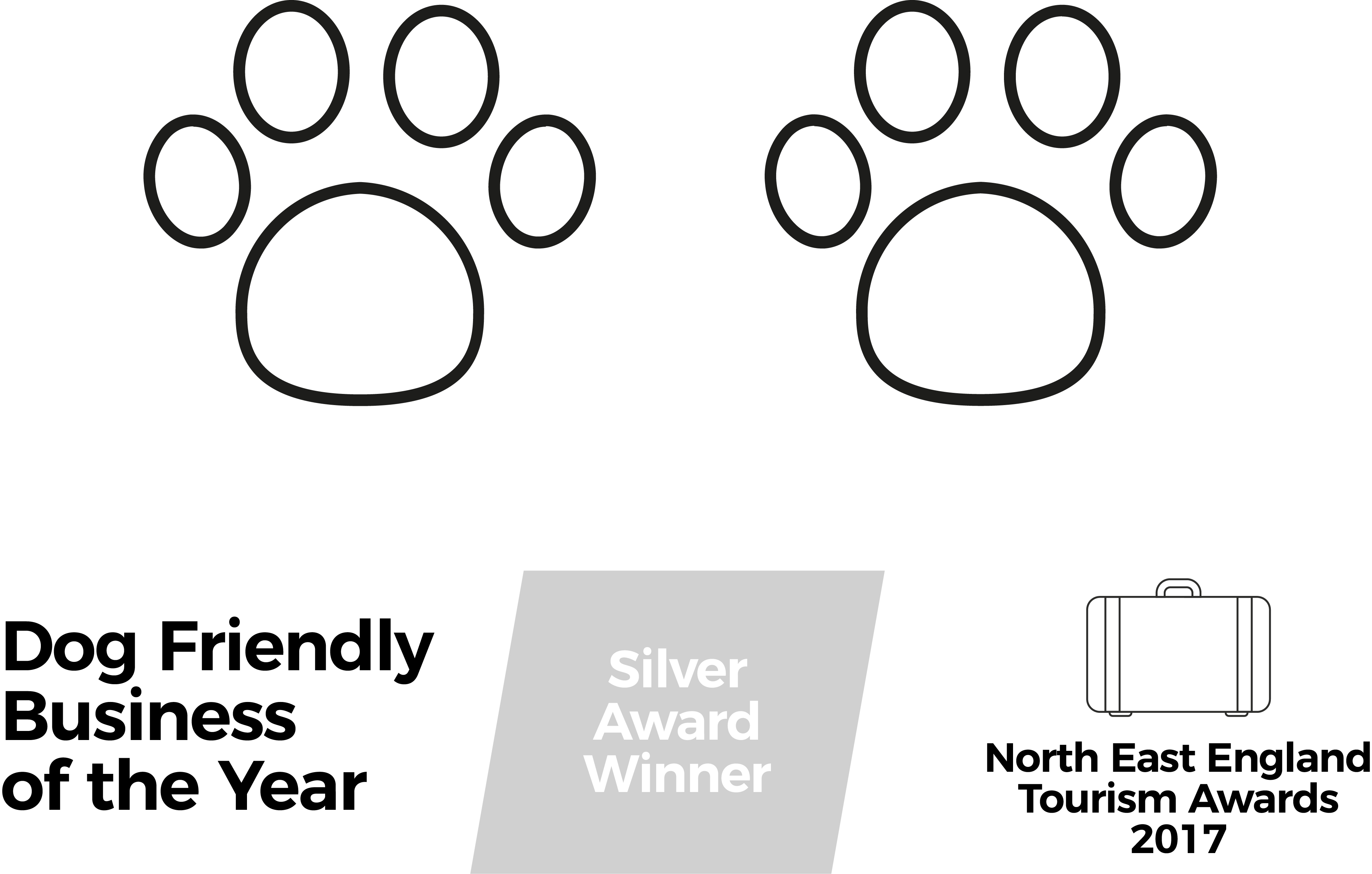 Silver Awards for Dog Friendly Business 2016 North East Tourism